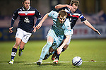 Dundee v St Johnstone.....27.02.13      SPL.Liam Craig is brought down by Gary Irvine.Picture by Graeme Hart..Copyright Perthshire Picture Agency.Tel: 01738 623350  Mobile: 07990 594431