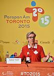 Gaetan Tardif, Toronto 2015.<br /> Highlights from Canada's Closing Ceremonies flag bearer annoucement // Faits saillants de l'annonce du porte-drapeau des cérémonies de clôture du Canada. 15/08/2015.
