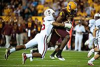 TEMPE, AZ - November 13, 2010: Delano Howell during a football game at Arizona State University in Tempe, Arizona. Stanford won 17-13.