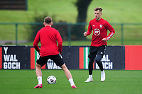 Joe Rodon of Wales in action during the Wales Training Session at The Vale Resort in Cardiff, Wales, UK. Monday 5 October 2020
