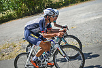The breakaway including Fumiyuki Beppu (JPN) Nippo-Delko and Nikodemus Holler (GER) Bike Aid during Stage 2 of the Route d'Occitanie 2020, running 174.5km from Carcassone to Cap Découverte, France. 2nd August 2020. <br /> Picture: Colin Flockton | Cyclefile<br /> <br /> All photos usage must carry mandatory copyright credit (© Cyclefile | Colin Flockton)