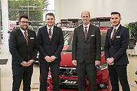 Vertu Honda dealership Nottingham. Pictured from left are Chris Duggen, Sam Austin, Anthony Curry, and Mark Whitehead