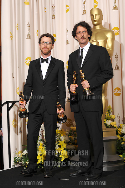 Joel Cohen & Ethan Cohen at the 80th Annual Academy Awards at the Kodak Theatre, Hollywood..February 24, 2008 Los Angeles, CA.Picture: Paul Smith / Featureflash