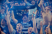 Kansas City, KS - Wednesday August 9, 2017: Sporting KC fans during a Lamar Hunt U.S. Open Cup Semifinal match between Sporting Kansas City and the San Jose Earthquakes at Children's Mercy Park.