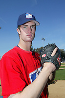 February 10 2008: Scott Snodgress participates in a MLB pre draft workout for high school players at the Urban Youth Academy in Compton,CA.  Photo by Larry Goren/Four Seam Images