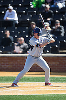 Kyle Adams (4) of the Richmond Spiders at bat against the Wake Forest Demon Deacons at David F. Couch Ballpark on March 6, 2016 in Winston-Salem, North Carolina.  The Demon Deacons defeated the Spiders 17-4.  (Brian Westerholt/Four Seam Images)