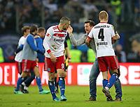 07.04.2018, Football 1. Bundesliga 2017/2018, 29.  match day, Hamburger SV - FC Schalke 04, Volksparkstadium Hamburg.  Kyriakos Papadopoulos (Hamburg) , Trainer Christian Titz (Hamburg) and Rick van Drongelen (Hamburg)  *** Local Caption *** © pixathlon<br /> <br /> Contact: +49-40-22 63 02 60 , info@pixathlon.de