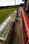 Early arrivals kicking a ball about outside the clubhouse. Darlington 1883 v Southport, National League North, 16th February 2019. The reborn Darlington 1883 share a ground with the town's Rugby Union club. <br />