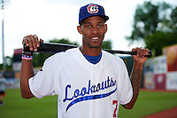 Chattanooga Lookouts outfielder Byron Buxton (7) poses for a photo before a game against the Jacksonville Suns on April 30, 2015 at AT&T Field in Chattanooga, Tennessee.  Jacksonville defeated Chattanooga 6-4.  (Mike Janes/Four Seam Images)
