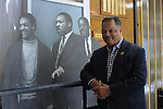 Reverend Jesse Jackson in the lobby of the Rainbow PUSH Coalition headquarters in Kenwood on the South Side of Chicago, Illinois on February 3, 2017.