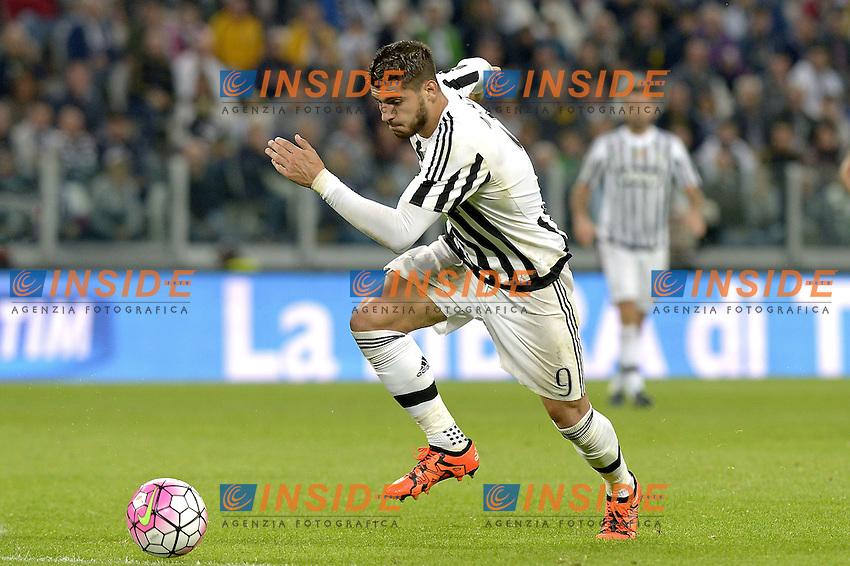 Alvaro Morata Juventus,<br /> Torino 04-10-2015, Juventus Stadium, Football Calcio 2015/2016 Serie A, Juventus - Bologna, Foto Filippo Alfero/Insidefoto
