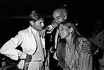 HELMUT BERGER CON DADO RUSPOLI<br /> FESTA ROCCO BAROCCO AL JACKIE O' ROMA 1981