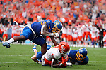 FRISCO, TX - MAY 16: Ife Adeyi #2 of the Sam Houston State Bearkats catches the game winning touchdown against the South Dakota State Jackrabbits during the Division I FCS Football Championship held at Toyota Stadium on May 16, 2021 in Frisco, Texas. (Photo by C. Morgan Engel/NCAA Photos)