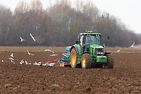 8-3-2021 Drilling Spring Barley in Lincolnshire. <br /> ©Tim Scrivener Photographer 07850 303986<br />      ....Covering Agriculture In The UK....