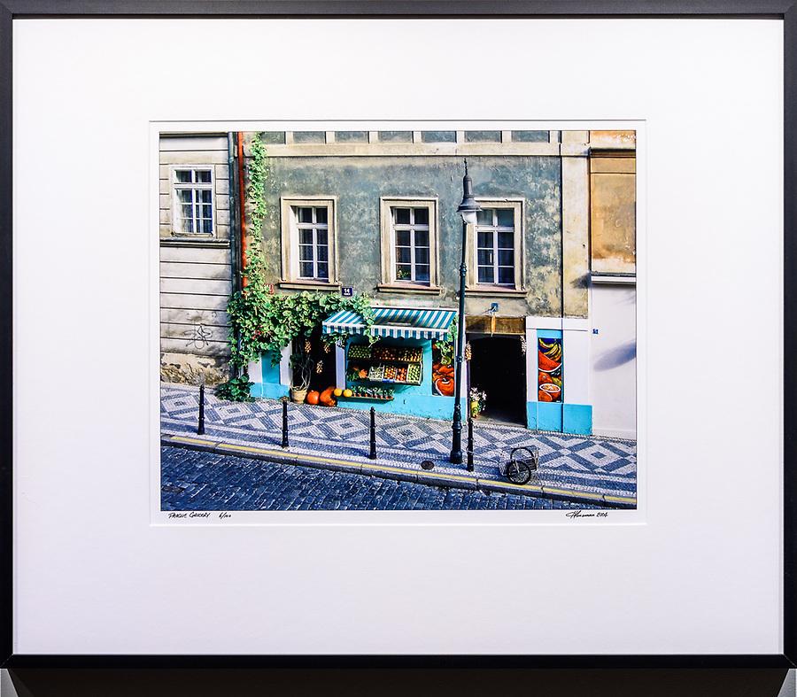 """Framed Size 20""""h x 24""""w, $450.<br /> Matte Black Nielsen 117 metal frame"""