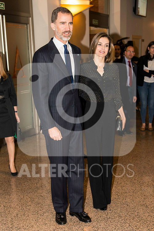 "King Felipe VI of Spain and Queen Letizia during the concert ""In Memoriam"" in honor of the victims of terrorism at  Auditorio Nacional de Musica in Madrid. March 08, 2017. (ALTERPHOTOS/Borja B.Hojas)"