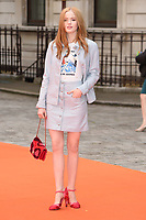 Ellie Bamber<br /> at the Royal Acadamy of Arts Summer Exhibition opening party 2017, London. <br /> <br /> <br /> ©Ash Knotek  D3276  07/06/2017