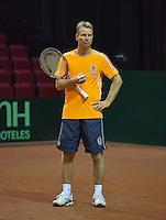 11-sept.-2013,Netherlands, Groningen,  Martini Plaza, Tennis, DavisCup Netherlands-Austria, Draw,   Captain Jan Siemerink<br /> Photo: Henk Koster