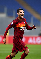 Football, Serie A: AS Roma -  FC Internazionale Milano, Olympic stadium, Rome, January 10, 2021. <br /> Roma's Lorenzo Pellegrini celebrates after scoring during the Italian Serie A football match between Roma and Inter at Rome's Olympic stadium, on January 10, 2021.  <br /> UPDATE IMAGES PRESS/Isabella Bonotto