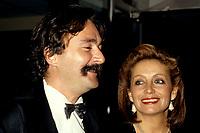 FILE -  Robert menard Louise Marleau a la premiere du film EXIT en Octobre 1986.<br /> <br />  Photo : Pierre Roussel - Agence Quebec Presse