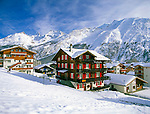 Switzerland, Valais, Saas Fee, International Wintersport Resort