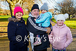 James and Kathleen Finnegan with their grand children Amy and Ava Fitzgerald enjoying a stroll in the Tralee town park on Friday.