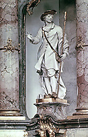 Statue in Basilica Vierzehnheiligen, Bamberg in Germany. Designed by Balthasar Neumann,