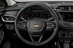 Car pictures of steering wheel view of a 2021 Chevrolet Trailblazer LT 5 Door SUV Steering Wheel