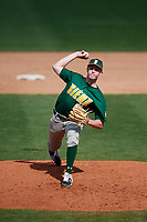 Siena Saints relief pitcher Nate Toms (36) delivers a pitch during a game against the UCF Knights on February 17, 2019 at John Euliano Park in Orlando, Florida.  UCF defeated Siena 7-1.  (Mike Janes/Four Seam Images)