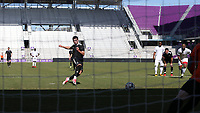 Orlando, Florida - Monday January 15, 2018: Brian White scores a penalty kick goal. Match Day 2 of the 2018 adidas MLS Player Combine was held Orlando City Stadium.