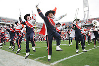 The Virginia band dances while playing during the 28-17 Duke win over Virginia  Saturday in Charlottesville, VA. Photo/Andrew Shurtleff