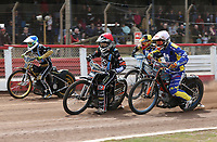 Heat 7: Zach Wajtknecht (red), Connor Coles (white), Nick Laurence (blue) and Matt Bates (yellow)<br /> <br /> Photographer Rob Newell/CameraSport<br /> <br /> National League Speedway - Lakeside Hammers v Eastbourne Eagles - Lee Richardson Memorial Trophy, First Leg - Friday 14th April 2017 - The Arena Essex Raceway - Thurrock, Essex<br /> © CameraSport - 43 Linden Ave. Countesthorpe. Leicester. England. LE8 5PG - Tel: +44 (0) 116 277 4147 - admin@camerasport.com - www.camerasport.com