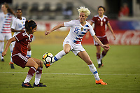 Jacksonville, FL - Thursday April 5, 2018: Kenti Robles, Megan Rapinoe during an International friendly match versus the women's National teams of the United States (USA) and Mexico (MEX) at EverBank Field.