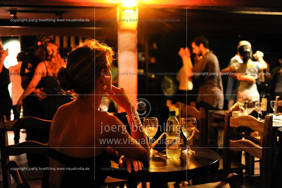 Uruguay Montevideo, Tango dancing at night at Museo del Vino