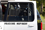 K-9 officer vehicle.  Police Dog Germantown Police Department, Wisconsin
