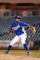 Igor Feliz #47 of the AZL Royals pitches against the AZL Rangers at Surprise Stadium on July 15, 2013 in Surprise, Arizona. AZL Rangers defeated the AZL Royals, 3-2. (Larry Goren/Four Seam Images)