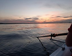 A solo row at dawn for rower Simone Sav in Killiney Bay