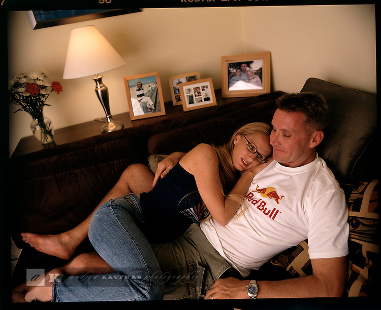Former World Record Free diving champion Tanya Streeter has a relaxing weekend at home with her husband Paul. In the off season Tanya lives in Austin, Texas. During the weekend. Tanya exercised, ate out and did some work around the house.