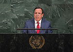 72 General Debate – 22 September <br /> <br /> tunisia foreign minister, Khemaies Jhinaoui