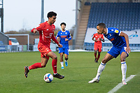 Louis Dennis, Leyton Orient attacks the penalty area during Colchester United vs Leyton Orient, Sky Bet EFL League 2 Football at the JobServe Community Stadium on 14th November 2020