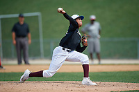 Pitcher Merfy Andrew (19) during the Dominican Prospect League Elite Underclass International Series, powered by Baseball Factory, on August 1, 2017 at Silver Cross Field in Joliet, Illinois.  (Mike Janes/Four Seam Images)