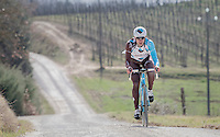 Gediminas Bagdonas (LTU/AG2R-LaMondiale) during the 2017 Strade Bianche recon (the day before the race)