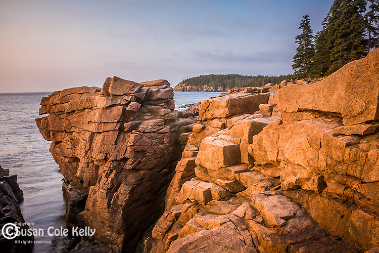 A quiet moment at Thunder Hole, seen from the Shore Path in Acadia National Park, ME