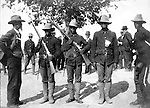 Fort Thomas Kentucky:  During a family visit to Cincinnati Ohio, the Stewart family visited Fort Thomas.  The photo captures a group of African-American soldiers from the south training for the Spanish-American war.  The word Immunes came from the concern about the health risks that tropical diseases would pose for American troops when they deployed