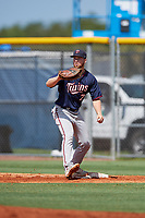 GCL Twins first baseman Gabe Snyder (7) during a game against the GCL Rays on August 9, 2018 at Charlotte Sports Park in Port Charlotte, Florida.  GCL Twins defeated GCL Rays 5-2.  (Mike Janes/Four Seam Images)