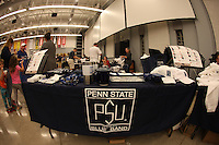 State College, PA - 10/07/2016:  The Penn State Alumni Blue Band marches in the 2016 PSU Homecoming parade on Friday, October 07, 2016, in State College, PA.<br /> <br /> Photos by Joe Rokita / JoeRokita.com