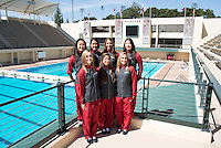 STANFORD, CA - Team of the Stanford University Women's Synchronized Swimming Team