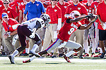Southern Methodist Mustangs wide receiver Shelby Walker (9) in action during the game between the Texas A&M Aggies and the SMU Mustangs at the Gerald J. Ford Stadium in Fort Worth, Texas. A&M leads SMU 38 to 3 at halftime.