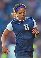 July 25, 2012..Sydney Leroux (11). USA vs France Football match during 2012 Olympic Games at Hampden Park in Glasgow, England. USA defeat France 4-2 after conceding two goals in the first half of the match...(Credit Image: © Mo Khursheed/TFV Media)