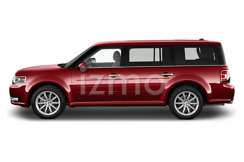 Car driver side profile view of a 2019 Ford Flex Limited 5 Door SUV